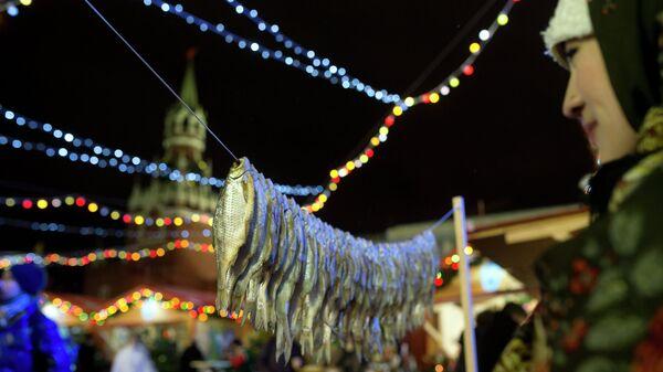 Торговые ряды на Рождественской ярмарке