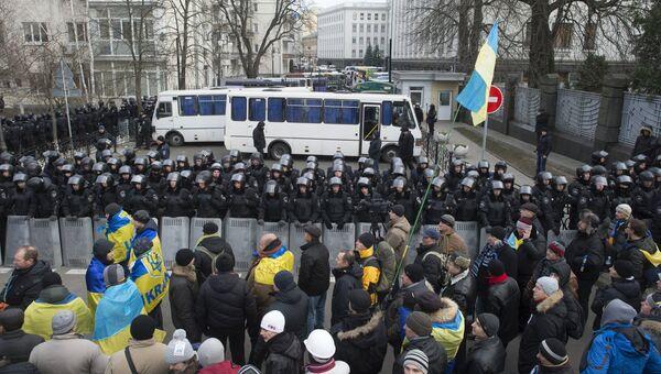 Акции протеста сторонников евроинтеграции Украины. Архивное фото