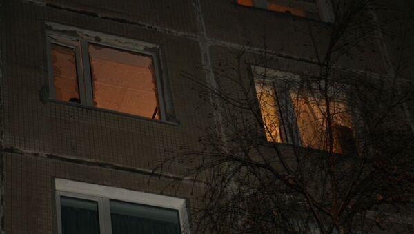 Окна петербургской квартиры, в которой прогремел взрыв. Фото с места события