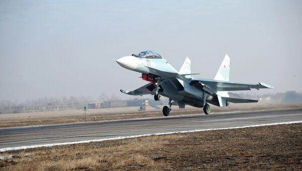 Новейшие истребители Су-30СМ. Архивное фото