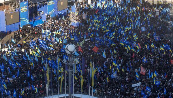 Митинг сторонников Партии регионов в Киеве