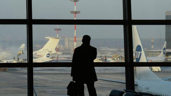 Пассажир аэропорту Внуково. Архивное фото.