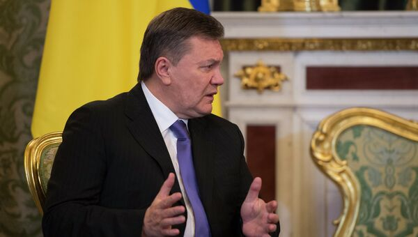 Президент Украины Виктор Янукович во время встречи с президентом России Владимиром Путиным в Кремле, архивное фото