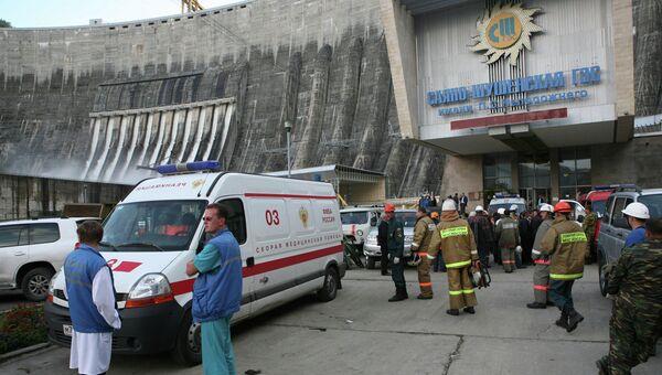 Ситуация на Саяно-Шушенской ГЭС после аварии. Архивное фото