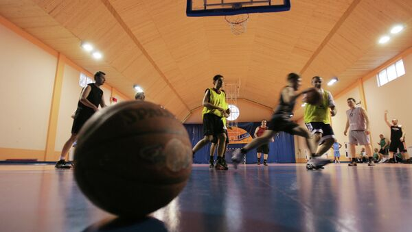 Спорткомплекс. Баскетбол. Архивное фото.