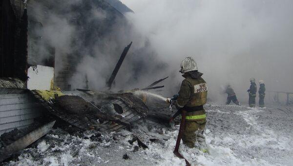 Пожар на птицефабрике Томская, архивное фото