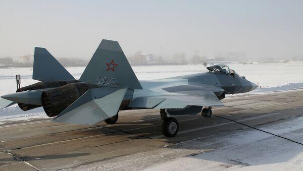 Российский истребитель пятого поколения. Архивное фото