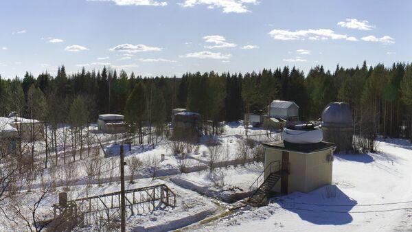 Вид на Коуровскую астрономическую обсерваторию Уральского Государственного Университета