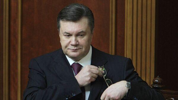 Президент Украины Виктор Янукович. Архивное фото