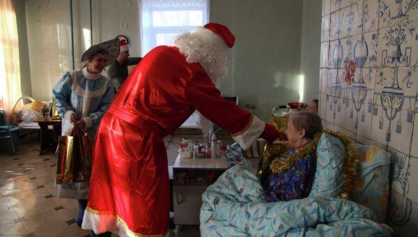 Волонтеры в доме престарелых