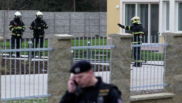 Взрыв в резиденции посла в Праге. Архивное фото