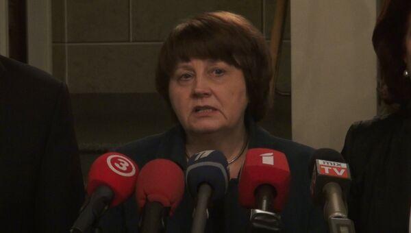 Утвержденный президентом кандидат на пост премьер-министра Латвии Лаймдота Страуюма. Архивное фото