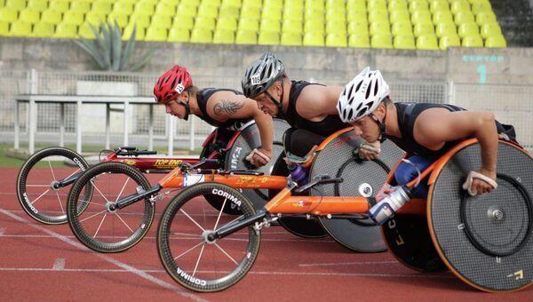 Тренировка паралимпийской сборной России. Архивное фото.