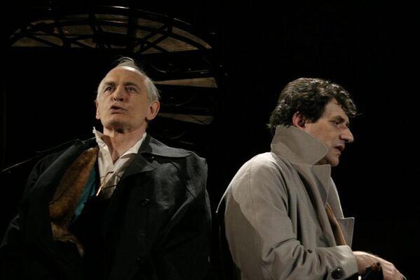 Василий Лановой и Евгений Князев в спектакле Посвящение Еве в театре им. Вахтангова
