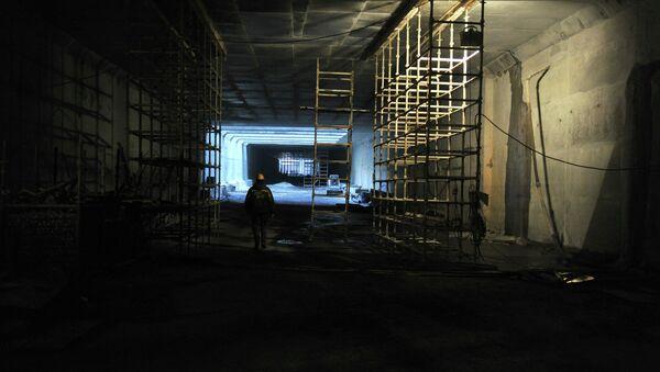 Строительство Алабяно-Балтийского тоннеля. Архивное фото.