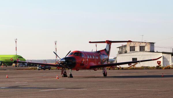 Самолет компании Ак Барс Аэро в Самаре. Архивное фото