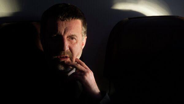 Актер Леонид Ярмольник во время съемок фильма Хороший плохой день в Московской области
