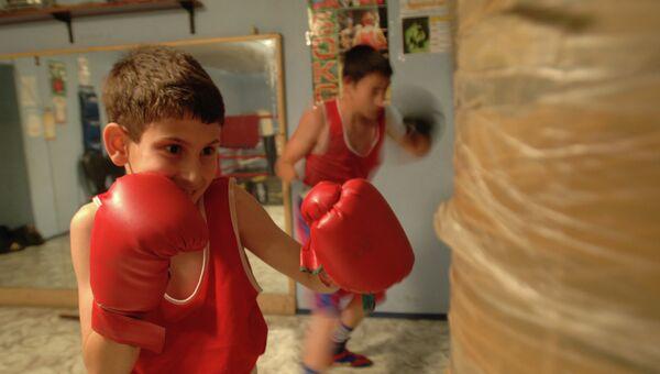 Бокс. Тренировка. Архивное фото.