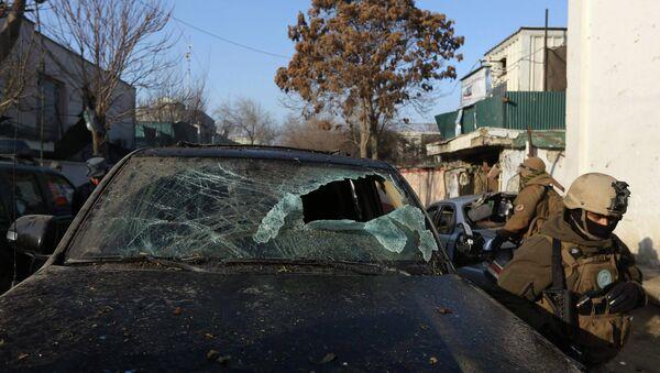 На месте теракта в центре Кабула