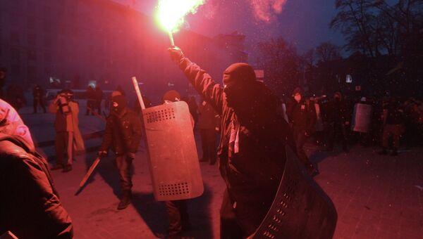 Беспорядки в Киеве, фото с места событий