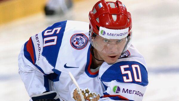 Нападающий сборной России Сергей Соин