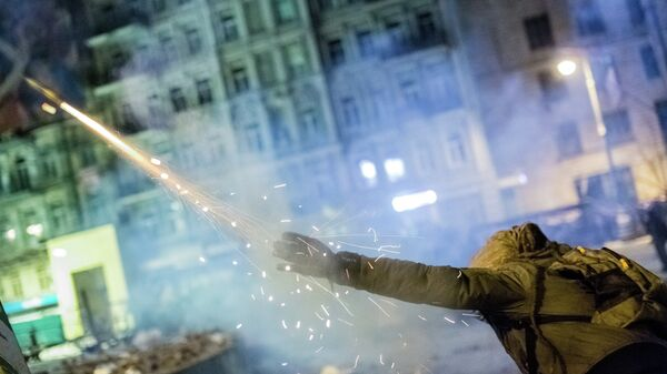 Массовые беспорядки в Киеве. Архивное фото
