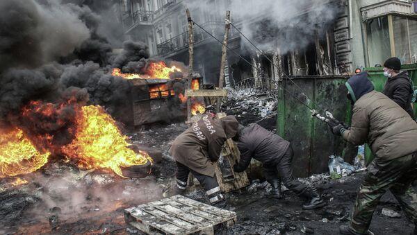 Ситуация в Киеве в январе 2014 года. Архивное фото