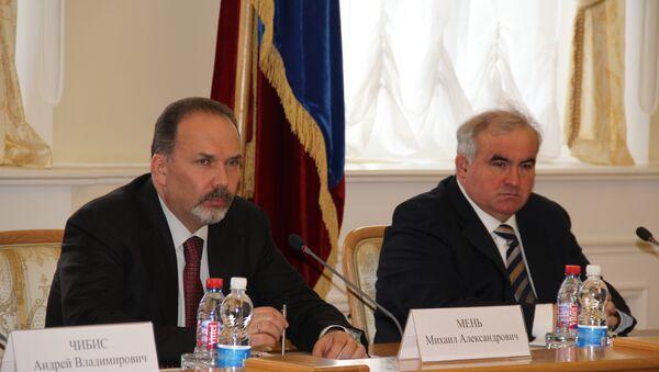 Министр Михаил Мень и губернатор Костромской области Сергей Ситников, фото с места события