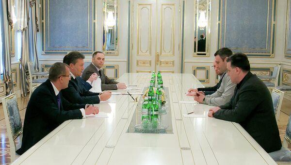 Встреча В.Януковича с лидерами оппозиционных парламентских фракций. Архивное фото