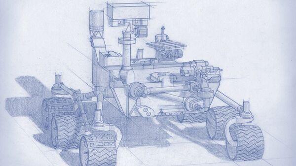 Эскиз будушего марсохода НАСА, который отправится на Марс в 2020 году