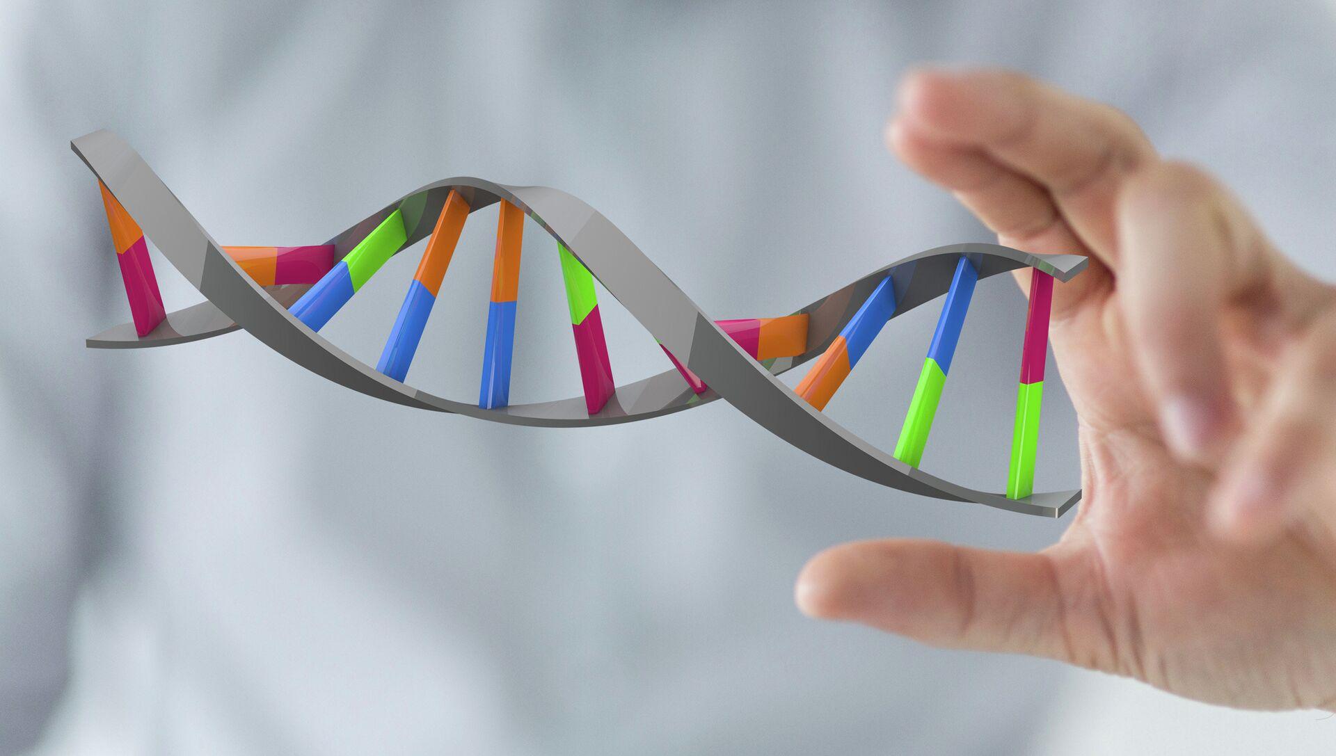 Модель ДНК. Архивное фото. - РИА Новости, 1920, 25.11.2014