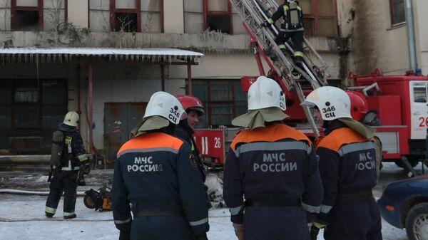 Пожар в Невском районе Санкт-Петербурга
