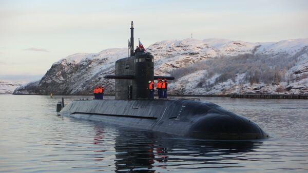 Головная подлодка проекта Лада (Санкт-Петербург), находящаяся в опытной эксплуатации на Северном флоте. Архивное фото