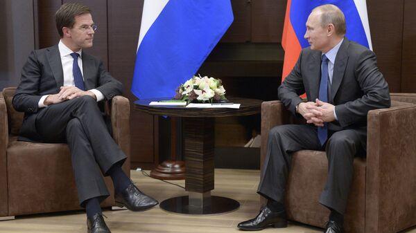 Встреча В.Путина с М.Рютте