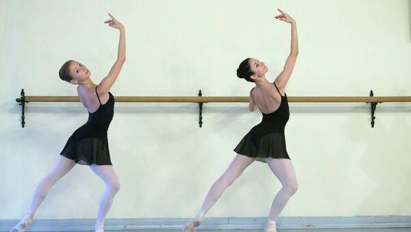 Открытый урок в Академии русского балета имени Вагановой в Петербурге. Архивное фото