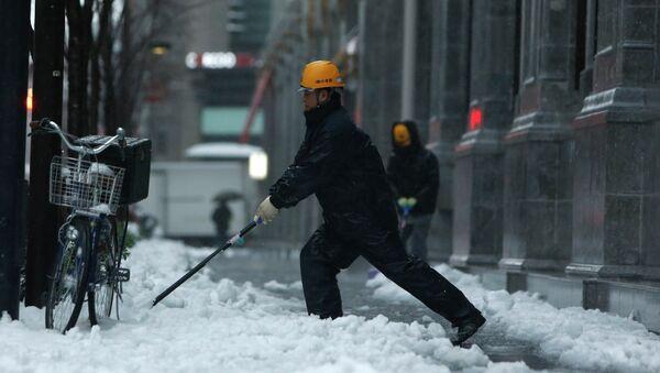 Последствия снегопада в Японии. Фото с места событий