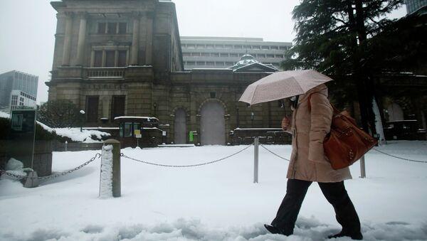 Сильный снегопад в Японии. Архивное фото