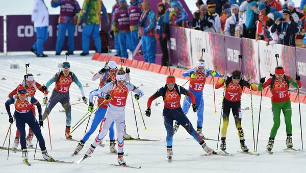 Олимпиада 2014. Биатлон. Смешанная эстафета. Фото с места события