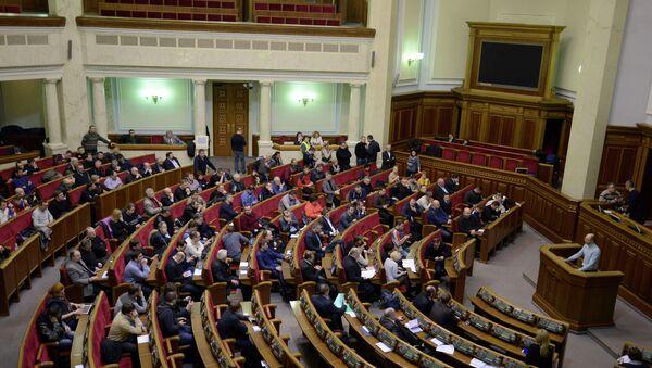 Депутаты собрались на экстренное заседание в Верховной Раде Украины. 20 февраля 2014