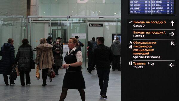 Терминал аэропорта Пулково в Петербурге. Архивное фото.