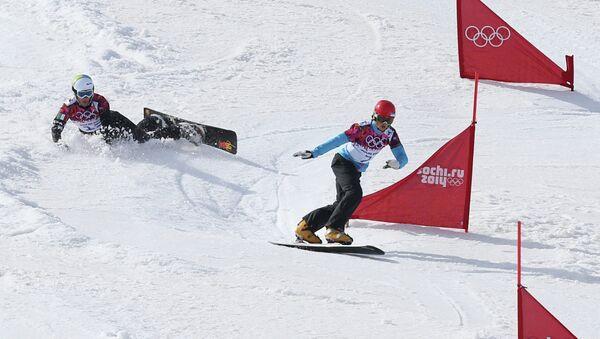 Олимпиада 2014. Сноуборд. Мужчины. Параллельный слалом. Архивное фото