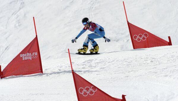 Олимпиада 2014. Сноуборд. Женщины. Параллельный слалом. Архивное фото