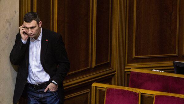 Лидер фракции УДАР Виталий Кличко, архивное фото