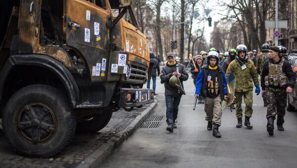 Обстановка в центре Киева, архивное фото