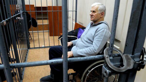 Отстраненный от должности мэра Махачкалы Саид Амиров во время заседания Басманного суда Москвы. Архивное фото