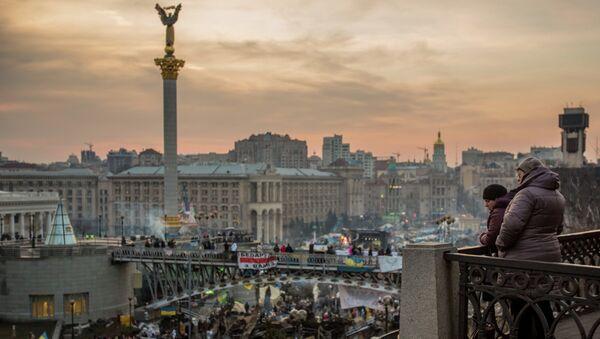 Киевляне на площади Независимости в Киеве. Архивное фото