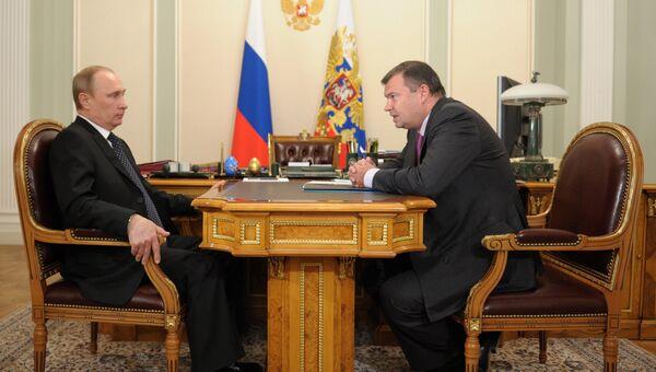 Встреча Владимира Путина с Андреем Бокаревым