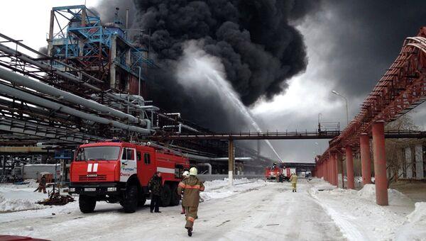 Взрыв на заводе в Омске, фото с места события