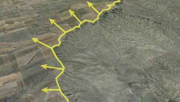 Бассейн реки Саут-Платт, притока Миссури, будет расти благодаря тектоническим процессам на юго-востоке США
