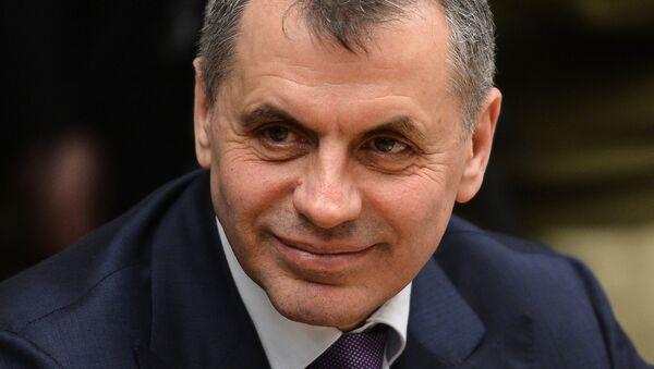 Председатель Верховного Совета Автономной Республики Крым Владимир Константинов, архивное фото